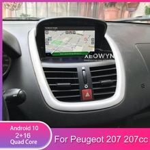 "7 ""Android 10 Auto Dvd Stereo Voor Peugeot 207 2007-2014 Auto Radio Gps Navigatie Audio Video Dab + Wifi 1 Gb Ram"