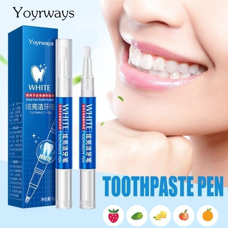 YOURWAYS Nova Magia Natural Aroma Frutado Dentes Branqueamento Caneta Gel Clareador de Dente Limpeza Dos Dentes Oral Care Remover Manchas Ferramentas