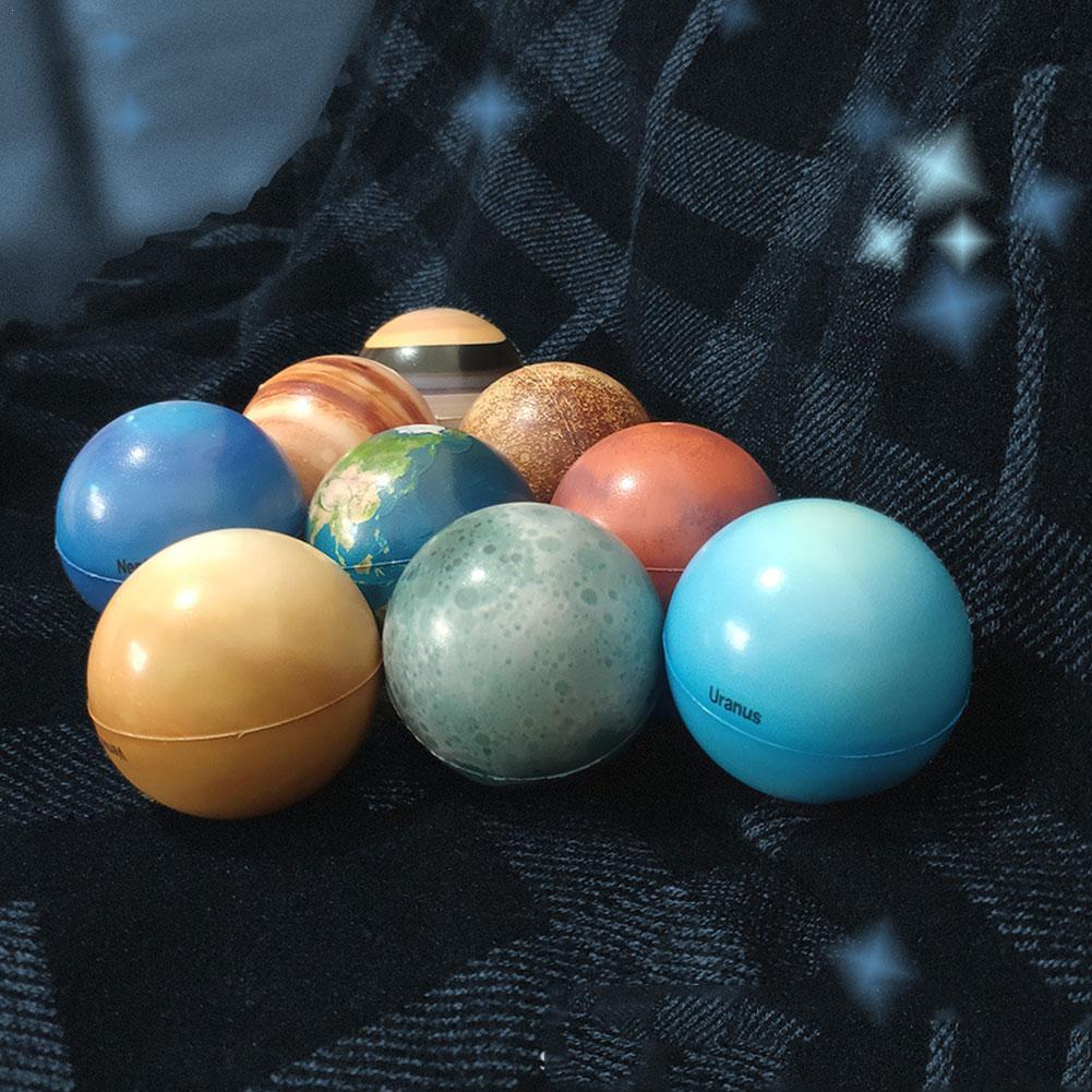 6,3 см восемь планет Луна Звезда шар игрушка красочный надувной звезда образовательная печать детский подарок губка эластичная игрушка мяч ...