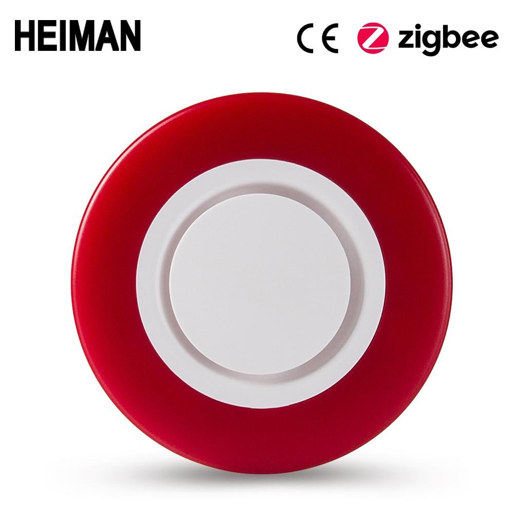 HEIMAN Zigbee 3.0 smart Strobe flash Siren Horn alarm Sound with 95DB big sounds to threaten thief HA1.2 клаксон big sound horn 56484 красный черный