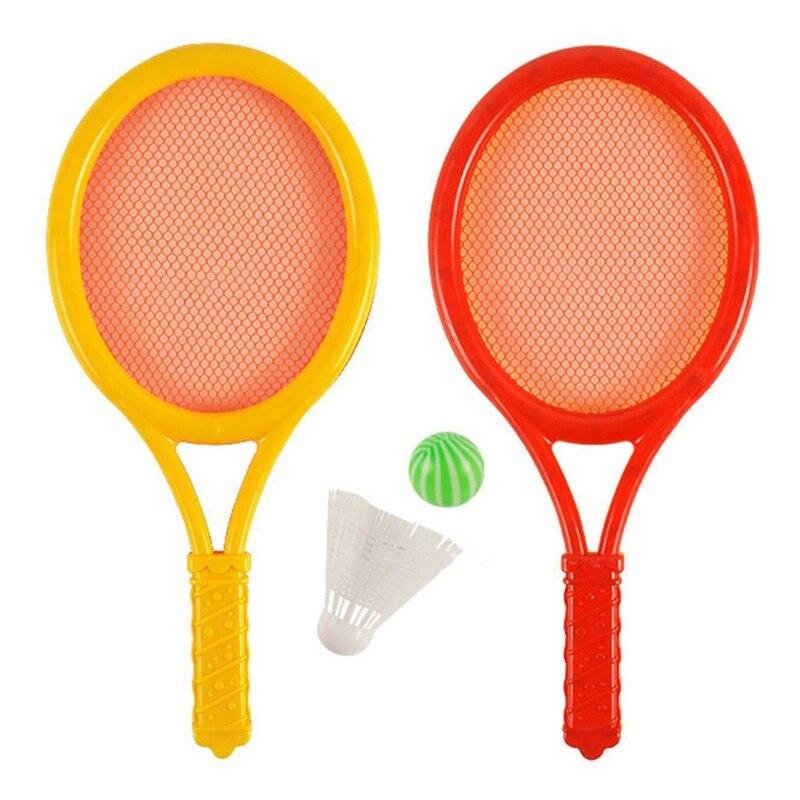 Классические Детские теннисные ракетки, Детские мячи для бадминтона, эластичные забавные спортивные игрушки