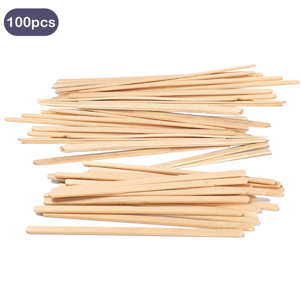 AliExpress - Behogar 100PCS 14cm Wooden Coffee Tea Ice Cream Popsicle Lolly Sticks Beverage Stir Stirrers DIY Hand Making Crafts Sticks Tools