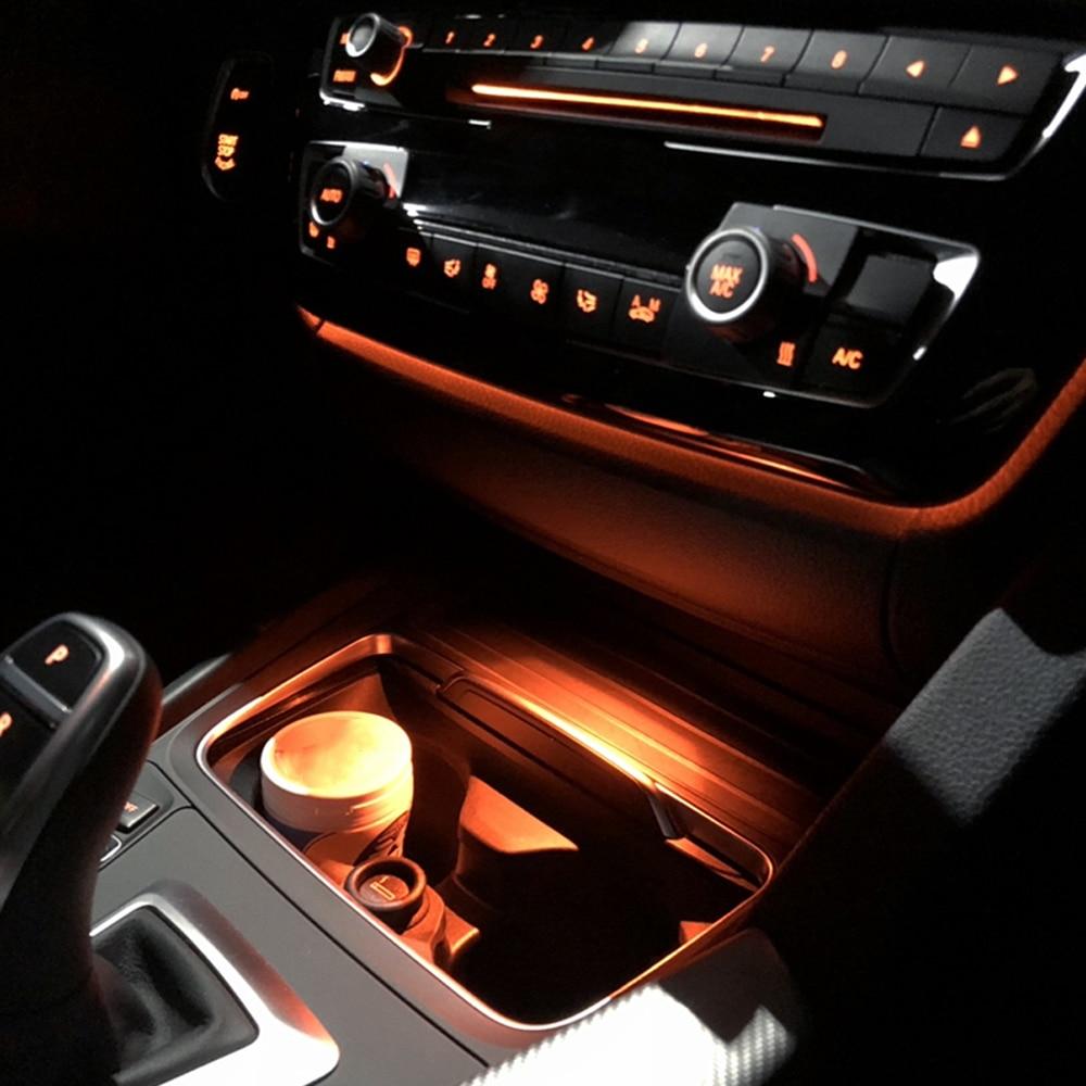 Luz ambiente para f30 f32 bmw 3 series interior cinzeiro atmosfera lâmpada decorativa caixa de apoio braço controle central iluminação adornam