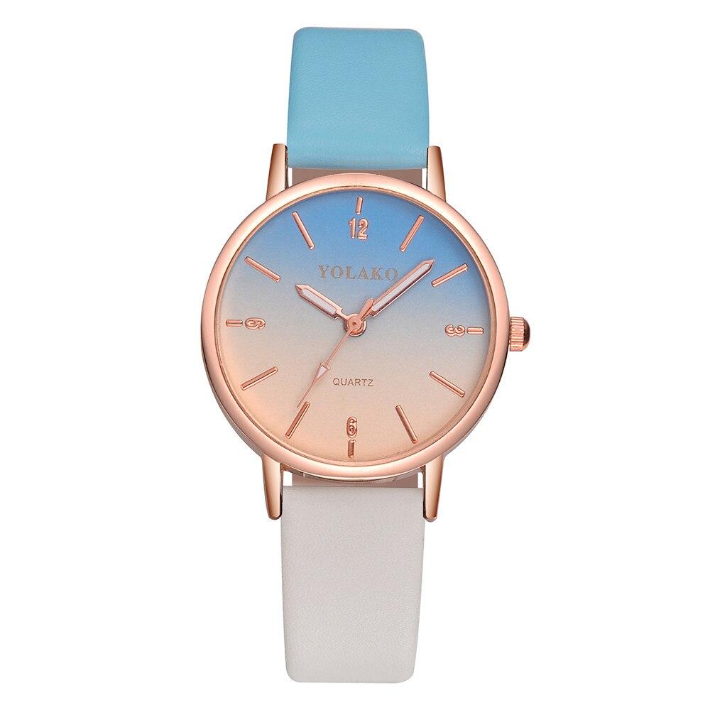Quartz Leather Band New Strap Watch Analog Wristwatch Women's Casual Clock Montre Femme Relogio Femi