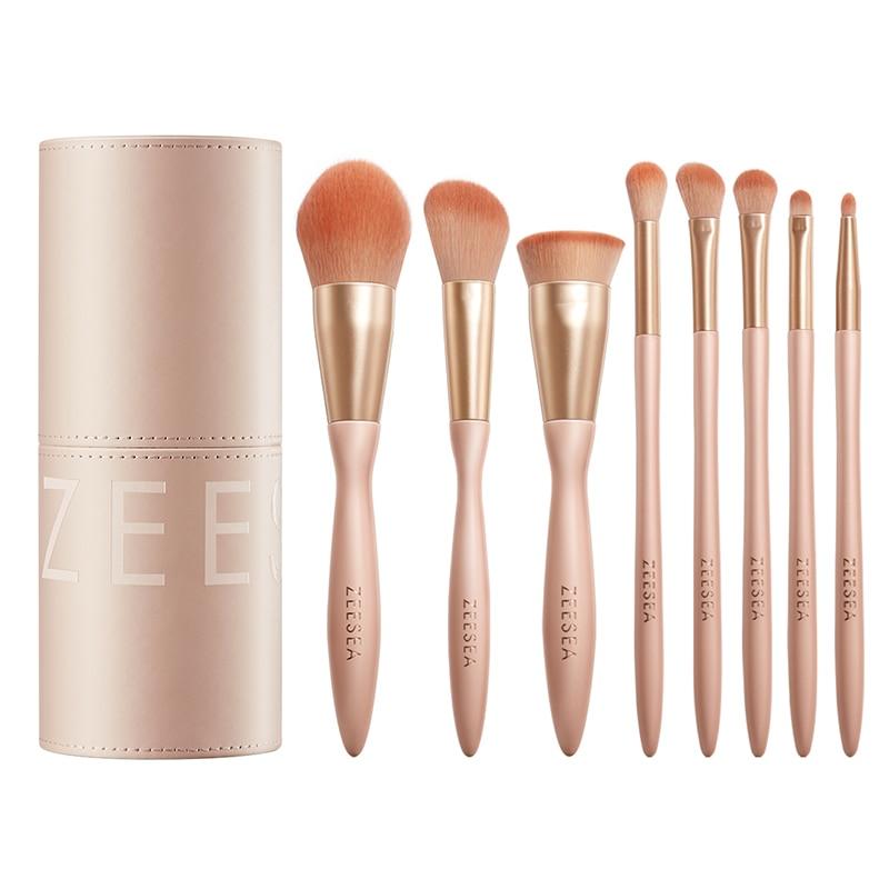 ZEESEA روز سحابة المكياج فرشاة مجموعة أدوات التجميل 8 قطعة