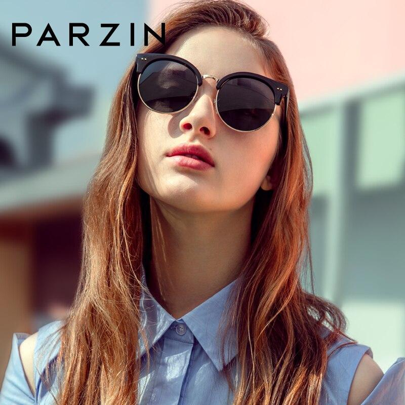 Cateye النظارات الشمسية المستديرة للنساء الرجال خمر شبه بدون إطار الاستقطاب القيادة نظارات شمسية نظارات الكلاسيكية