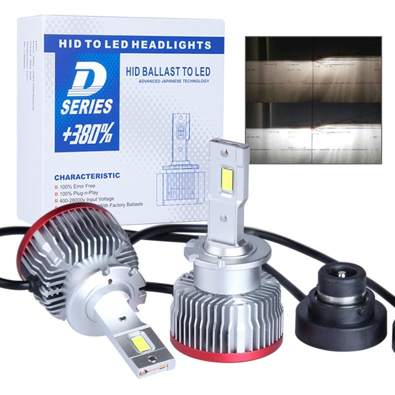 لمبة إضاءة LED, 2 قطعة D2S D3S التوصيل والتشغيل مصباح Led الأصلي HID D1S D2R D4S D4R D5S D8S المدمج في Canbus LED المصباح 6000K 15000LM