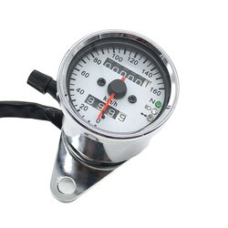 12 v motocicleta odômetro velocímetro tacômetro speedo medidor led para honda cafe racer durável