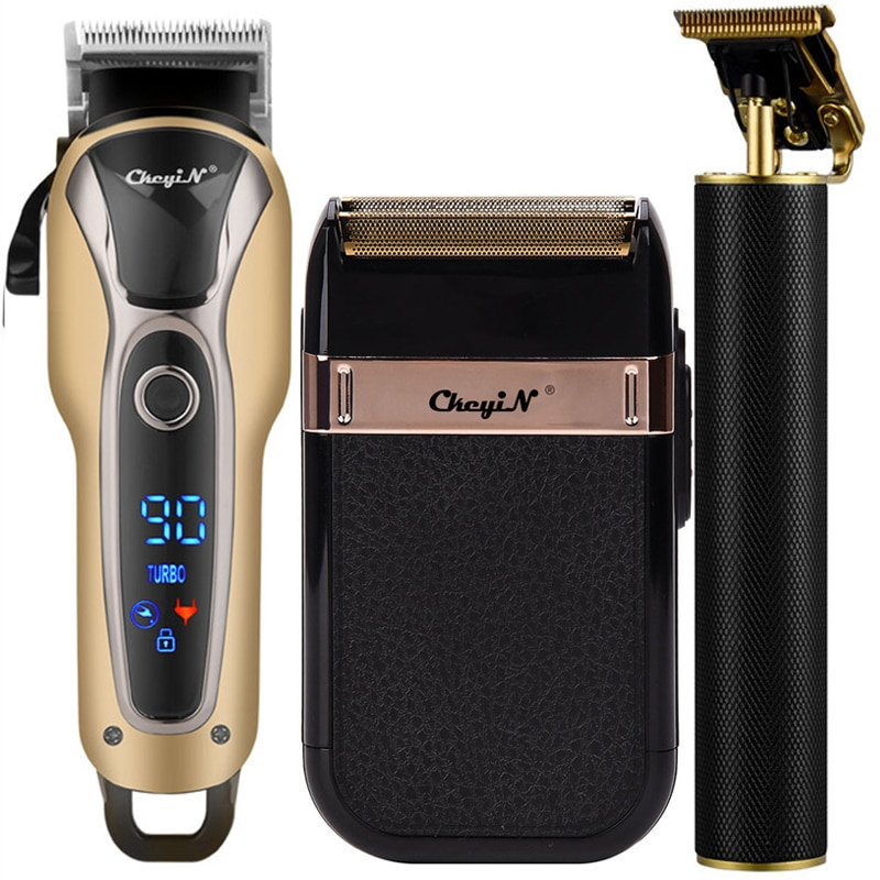 Professional Hair Clipper Men Barber Rechargeable T Blade Cutting Machine Beard Trimmer Electric Sha
