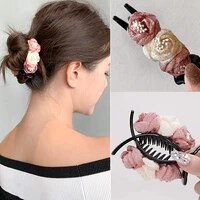 korean elegant flower hair claws daily simple hairpin hair accessories popular daily casual street office women girl accessories