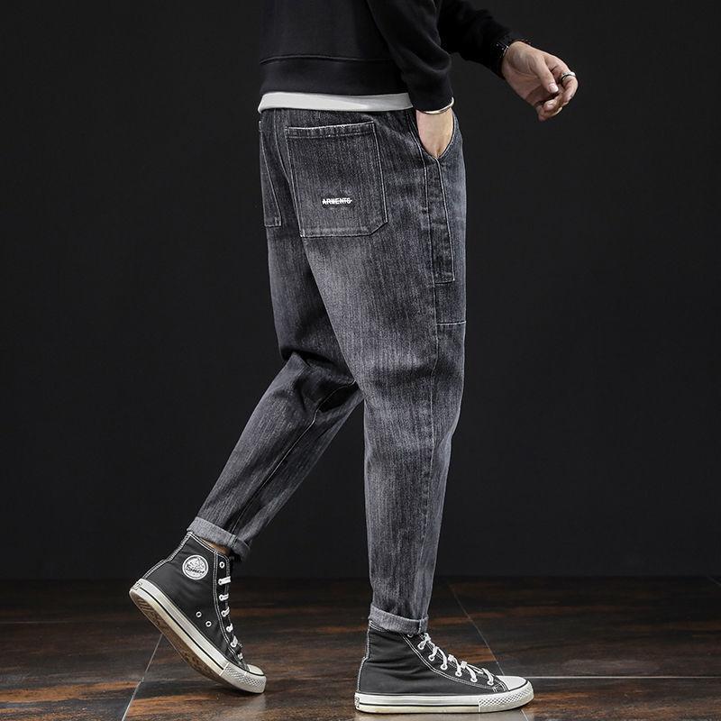 Jeans men's fashion brand loose stretch men's harem pants 2021 spring autumn new wild fashion tooling long pants jeans for men