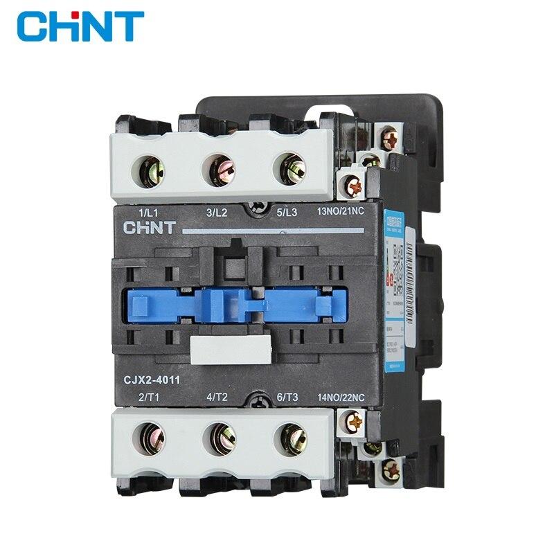 CHINT AC Contator Da Ca 220V 380V CJX2-4011 CJX2-5011 CJX2-6511 CJX2-8511 CJX2-9511 CHNT