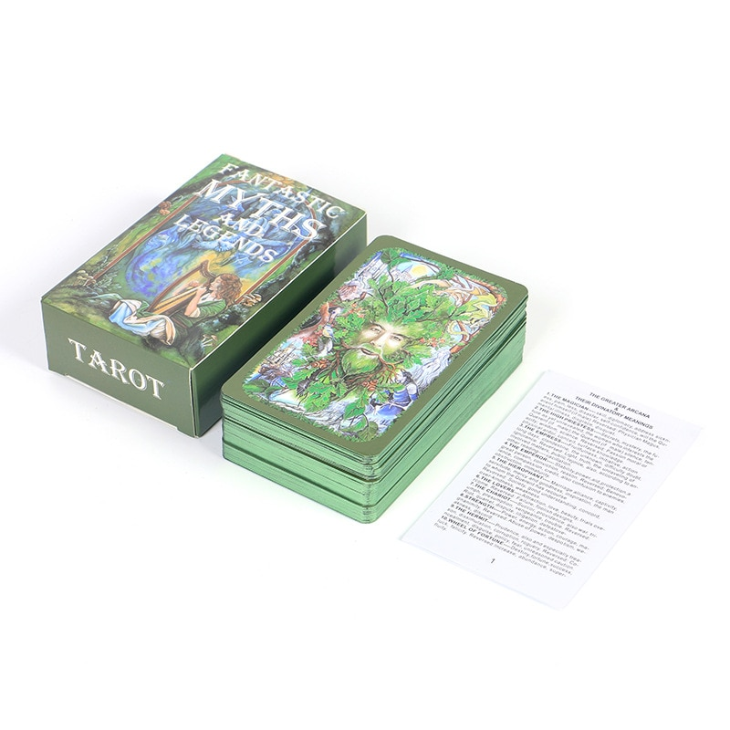 Tarot Cards with Guide Book Fantastic Myths and Legends 80 Cards English Board Game for Party Oracle Deck Spirtual Taro Wayta