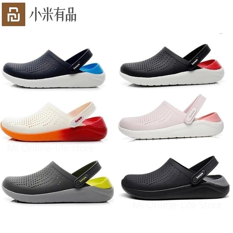 جديد شاومي Youpin في الهواء الطلق الشاطئ الأحذية المضادة للانزلاق لينة أسفل تنفس سميكة القاع الإناث الطلاب صندل عادي النعال