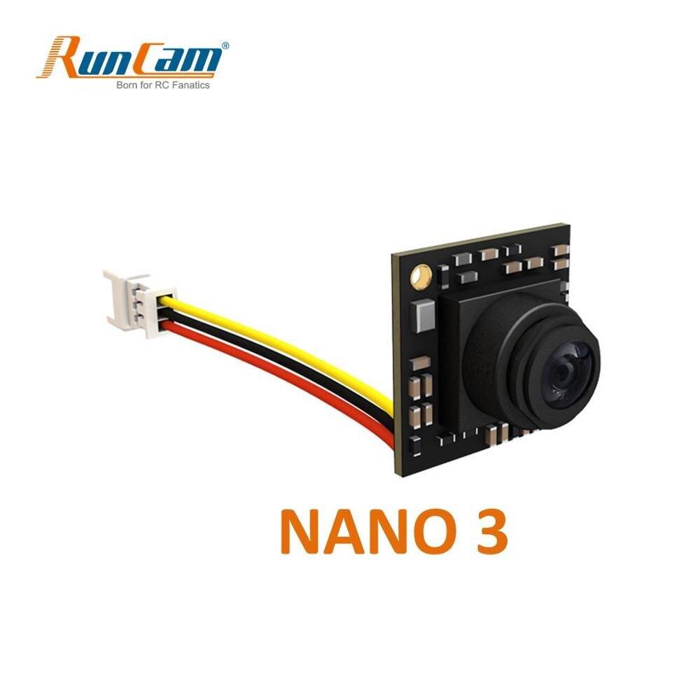 RunCam Nano 3 1/3 ''800TVL 1,1g Ультра легкий FOV 160 градусов широкоугольный NTSC CMOS FPV камера для RC FPV Racing Drone Toothpic