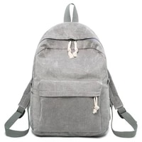 women casual korean style solid color school backpack mochila mujer soft fabric fashion backpack for teenage girls