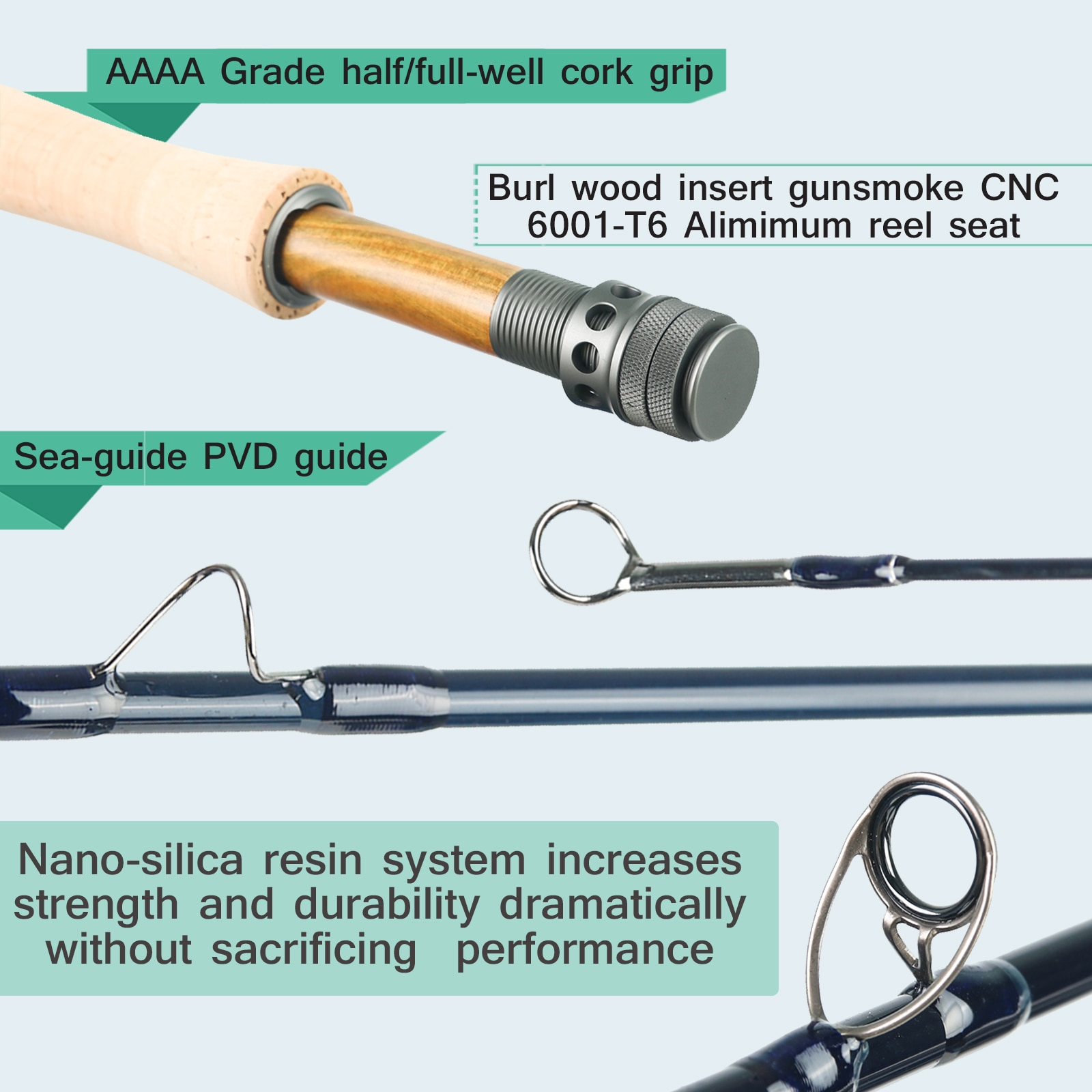 Maximumcatch Nano Fly Fishing Rod IM12 40T+46T Toray Carbon Fast Action Super Light with Cordura Tube 3/4/5/6/7/8WT 8'4''/9' enlarge
