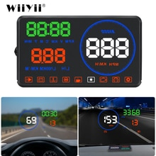 WiiYii M9 HUD Car Display 5.5 Inch Windscreen Projector OBD2 Car Driving Data Display Speed RPM Fuel