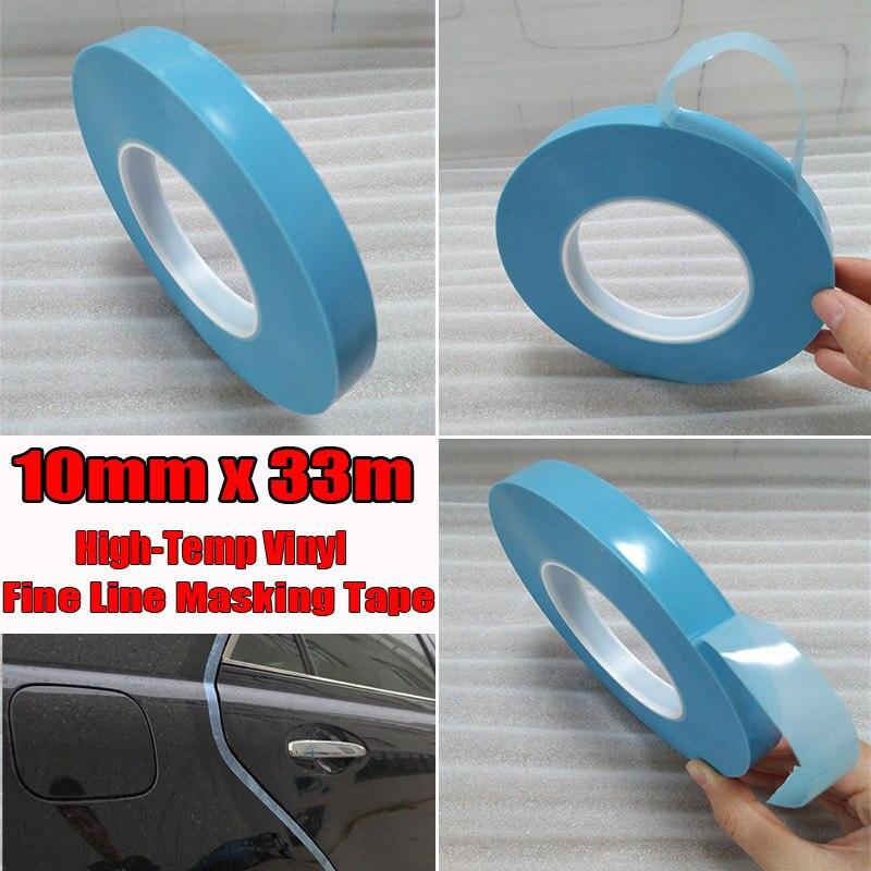 Suministro de cinta adhesiva de coche curvas de rollo 10mm * 33m herramientas de doble cara 1pc de vinilo