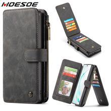 Portefeuille à fermeture éclair magnétique étuis pour samsung Galaxy Note 8 9 10 S8 S9 Plus S10e S10 5G Multi fentes pour cartes support en cuir