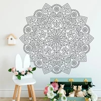 creative design mandala stickers wall home decoration living room bedroom yoga studio namaste decals vinyl wallpaper murals 4769