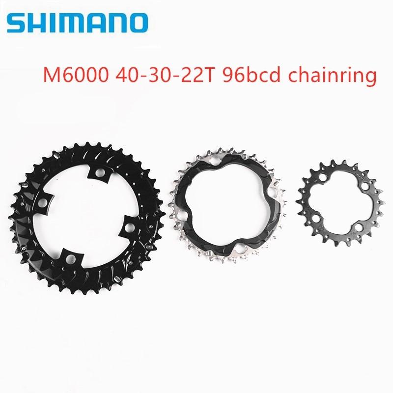 Shimano DEORE m6000 96bcd 40 30 22t engranaje bicicletas de montaña para M6000 M7000 M612 M672 M782 bicicleta MTB manivela