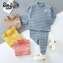 Pyjamas pour enfants printemps automne hiver garçons filles pyjamas coton vêtements de nuit enfants vêtement de nuit pour enfants sous-vêtement thermique