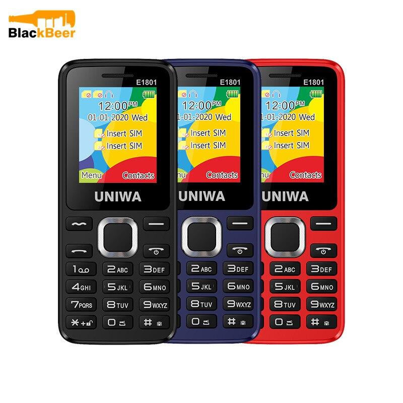 UNIWA E1801 2G GSM 1,77 Zoll Funktion Telefon 800mAh Handy Drahtlose FM Radio Telefon Dual SIM Dual Standby für Ältere Mann