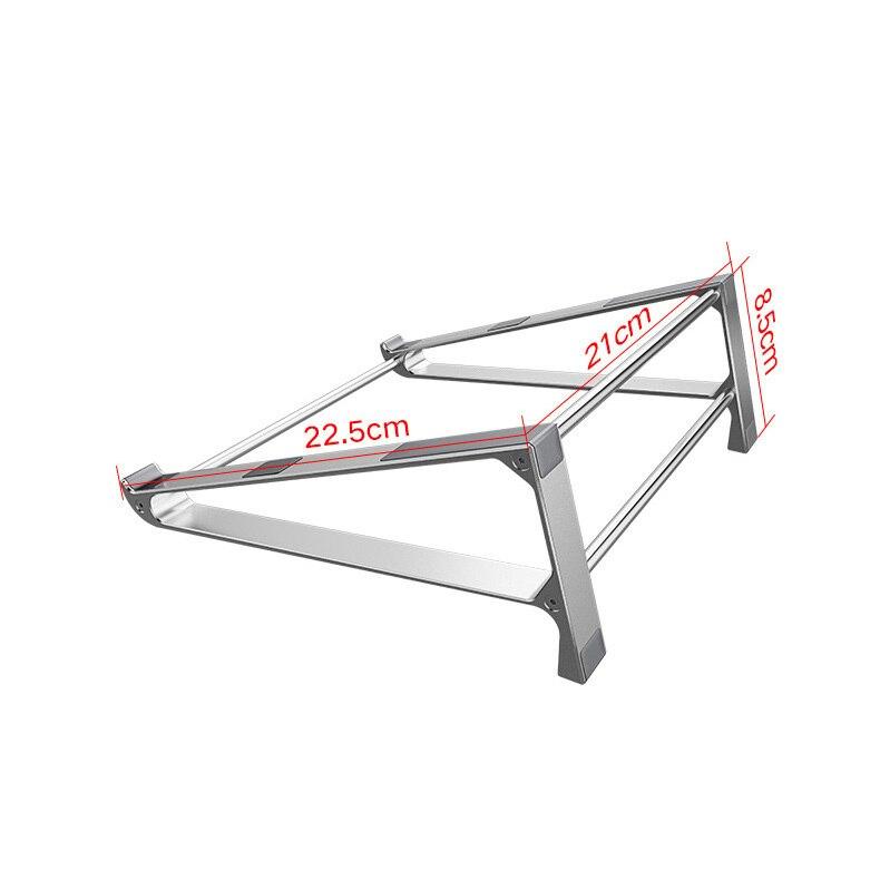 Купить с кэшбэком Aluminium Alloy Vertical Laptop Stand Desktop Tablet Holder Desk Mobile Phone Cool For IPad Macbook Pro Air Notebook Chromebook
