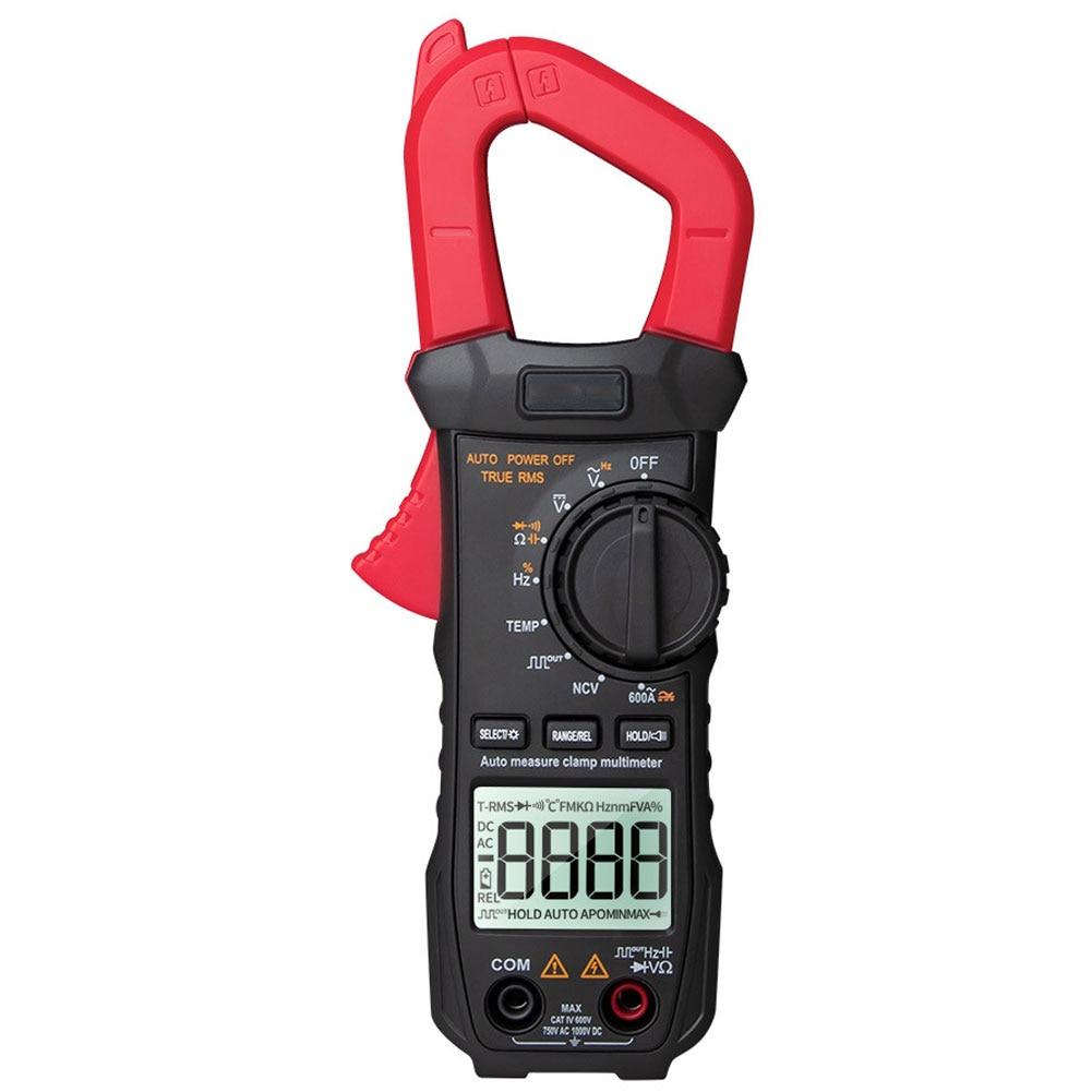 Digital Clamp Meter Multimeter Voltmeter ST209 DC AC Voltage Current LCD Display Range Capacitance Resistance Frequency Tester