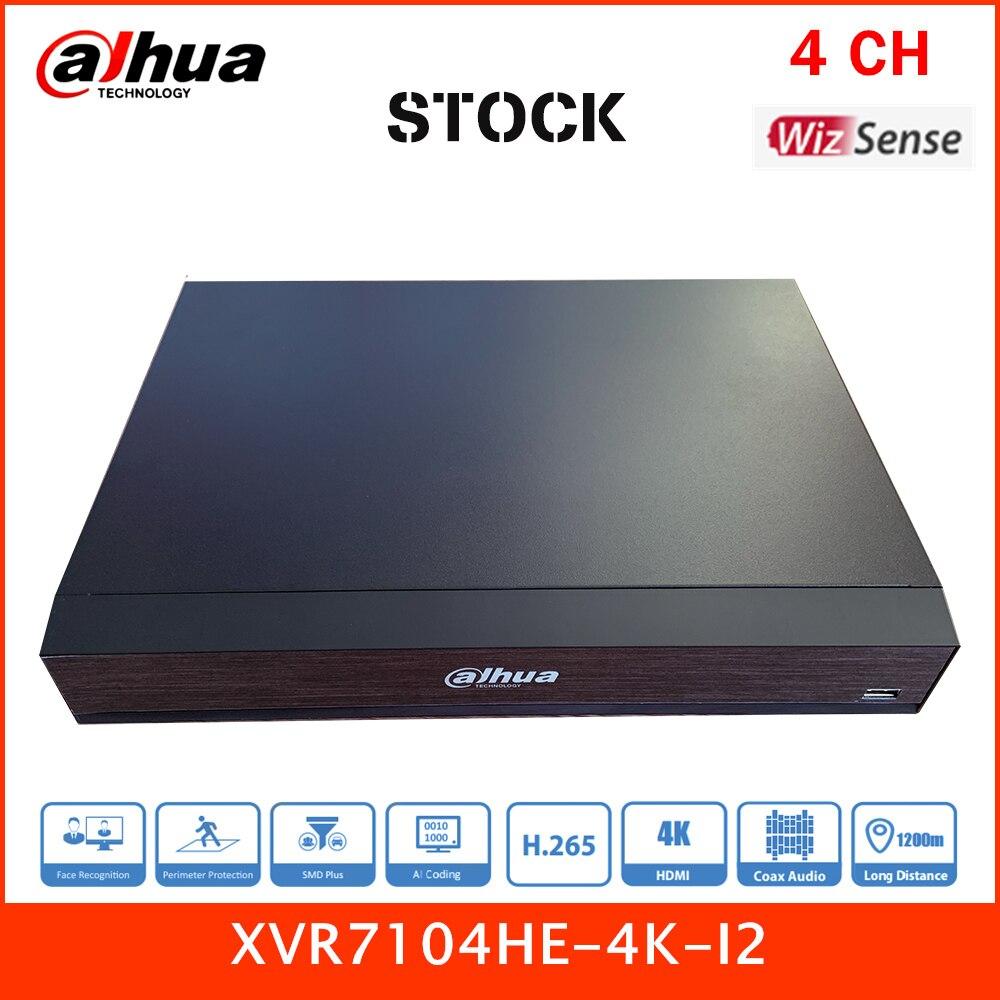 داهوا AI سلسلة الأسهم تعزيز 4CH 4K XVR بنتا brid Mini 1U WizSense مسجل فيديو رقمي 1HDD XVR7104HE-4K-I2