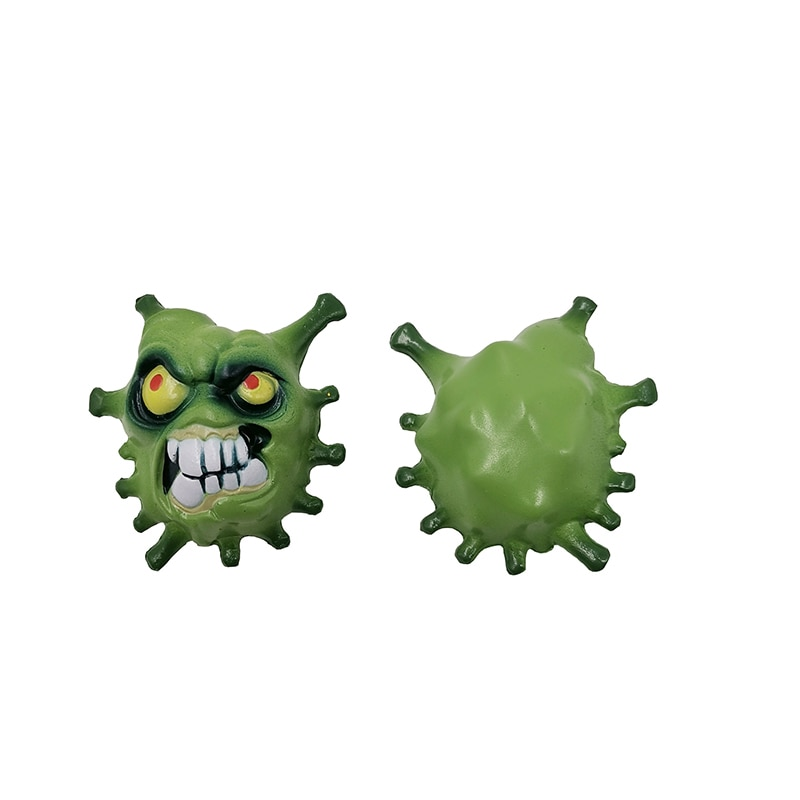 2pcs PU Slow Rebound Fidget Sensory Stress Relief Toys Squishy Cartoon Virus Squeeze   Hot Selling enlarge