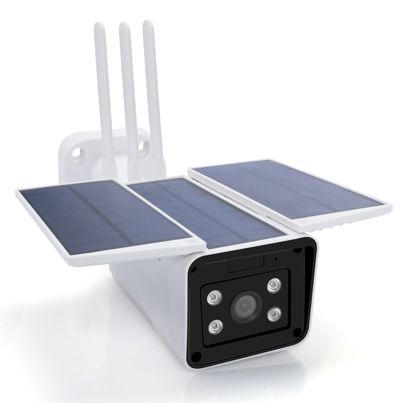 1080P للماء في الهواء الطلق تعمل بالطاقة الشمسية Wifi كاميرا الذكية IP الأمن الرئيسية IR للرؤية الليلية اتجاهين الصوت كاميرا سي سي تي في بدون سلك