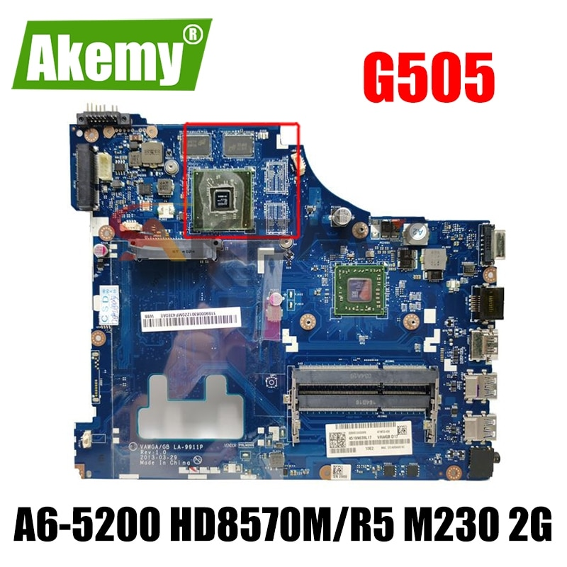 VAWGA/GB LA-9911P اللوحة لينوفو G505 اللوحة الأم A6-5200 وحدة المعالجة المركزية HD8570M/R5 M230 2G الأصلي اختبار 100% العمل