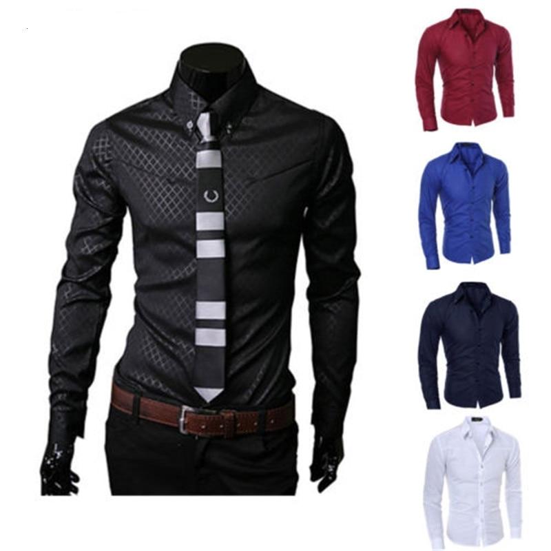Новая стильная мужская Спортивная рубашка с короткими рукавами Повседневное Ювелирное Украшение Стильная приталенная одежда с длинным ру...