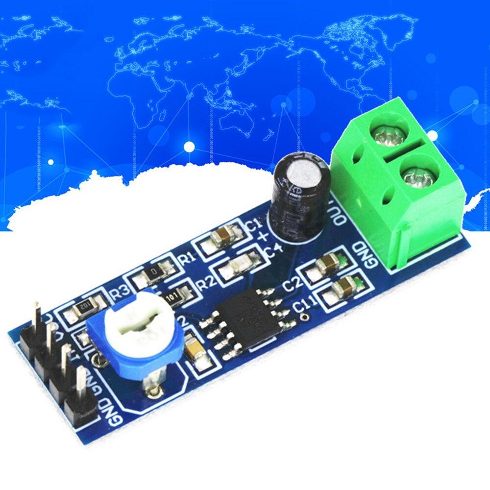 LM386 модуль усилителя мощности звука 200 увеличение времени Плата усилителя подойдет как для повседневной носки, так усилитель мощности 5 V-12 V ...