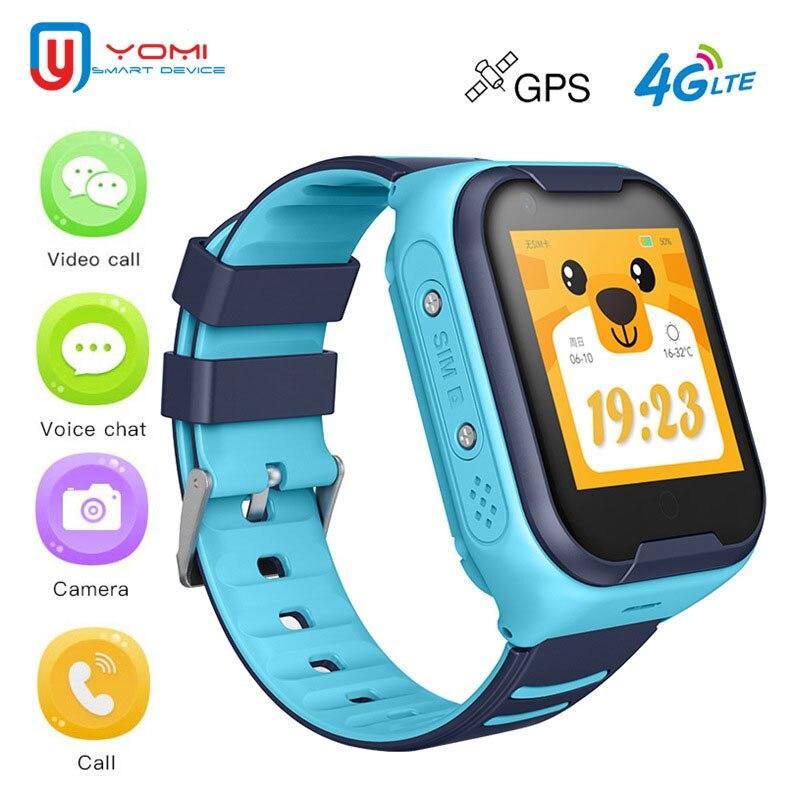 جديد ساعة ذكية للأطفال 4G أندرويد ساعة ذكية مقاوم للماء لتحديد المواقع واي فاي تحديد موقع مكالمة فيديو WhatsAPP التحكم عن بعد ساعة اليد الرقمية
