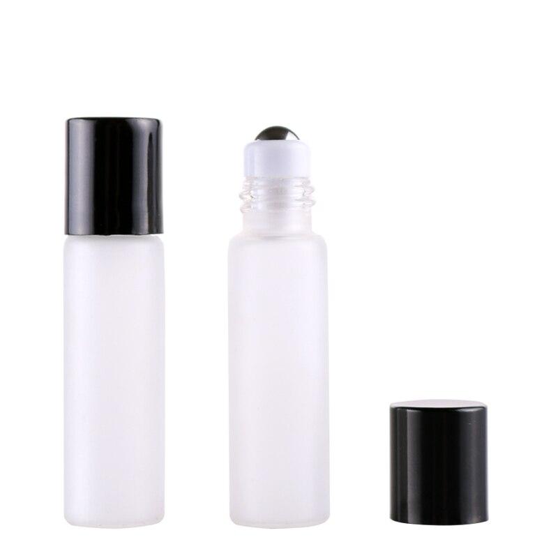 15MM * 60MM 100 unids/lote viaje 5ML de rollo de vidrio en botella de Perfume de aceites esenciales vacío frasco para uso cosmético con bolas de acero