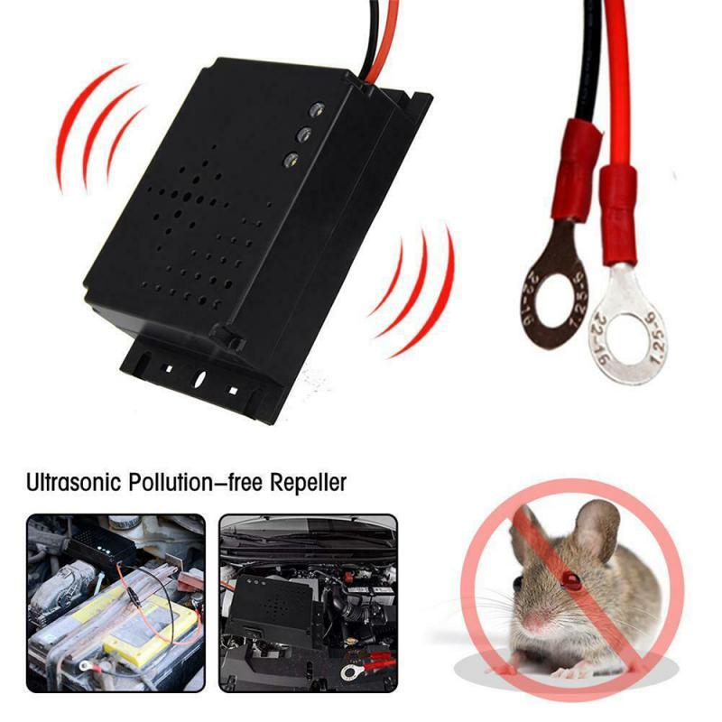 Ultrasonic Pest Repeller For Car DC 12V Rat Rodent Pest Animal Deterrent Car Vehicle Uses A Rodent-P