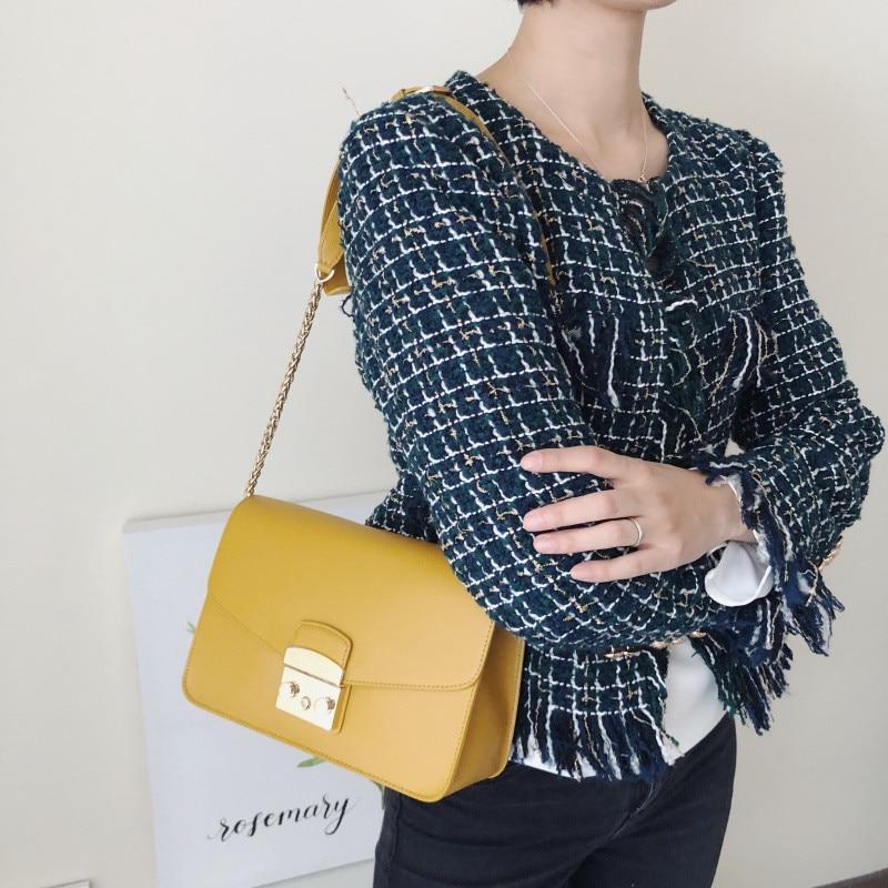 207 # Aprilla 24cm Mode dame Schulter Taschen Luxus Berühmte Marke echte echtem leder Frau Handtaschen Frauen messenger taschen