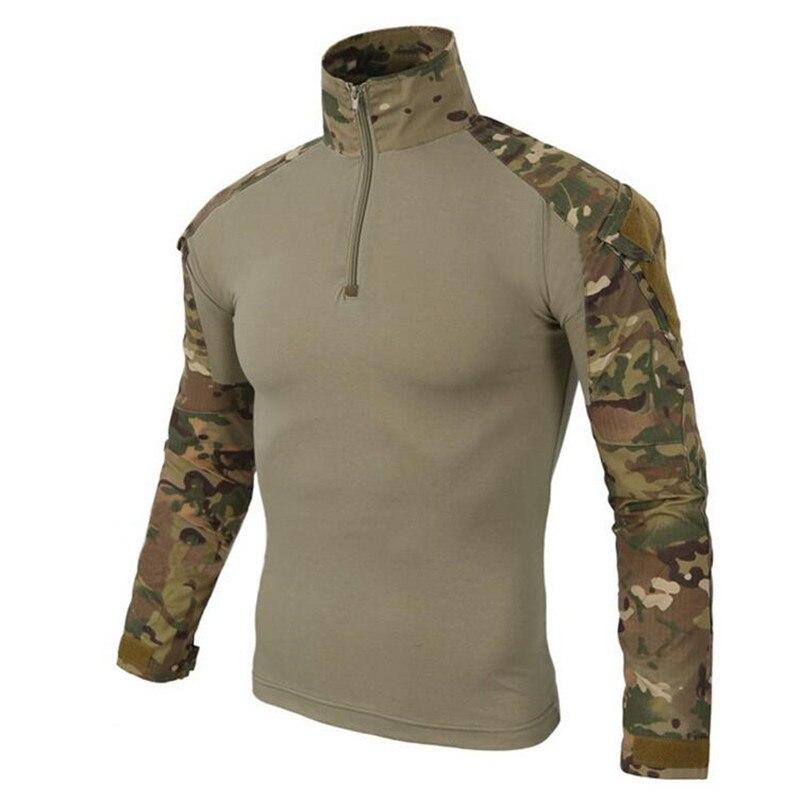 Uniforme militar táctico del Ejército de los Estados Unidos, camisas de camuflaje probadas de combate, camisa de manga larga de asalto rápido, ataque de batalla