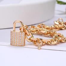CZ Zircon serrure breloque Bracelets pour femme à la mode or lien chaîne petit clé cadenas luxueux bijoux accessoires cadeaux 2020 nouveau