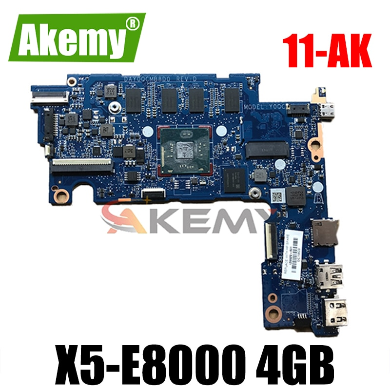كمبيوتر محمول اللوحة الأم للكمبيوتر المحمول HP Stream 11-AK 11-AK1035NR DAY0QCMB8D0 L59929-601 DAY0QCMB8D0 Atom X5-E8000 4GB 32GeMMC