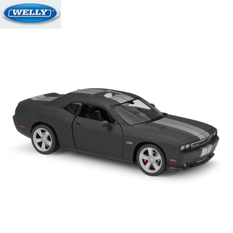 WELLY 1:24 DODG 2012 Challenger SRT Die-casting Simulation Alloy Car Model Collection Gift Birthday Present for Kids Original