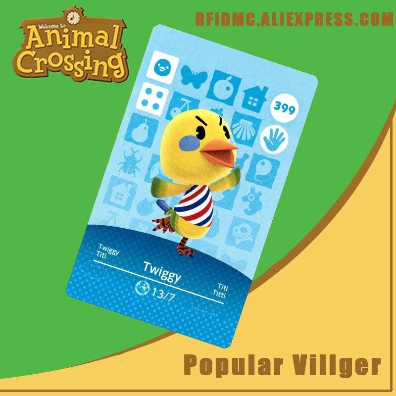 399 Twiggy Animal Crossing Card Amiibo for New Horizons