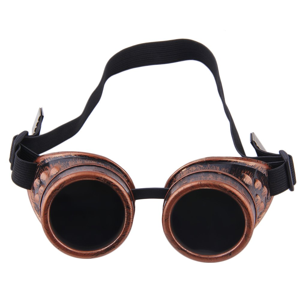 Professional Goggles Steam Glasses Vintage Welding Gothic Victorian Outdoor Sports Sunglasses Men Ac