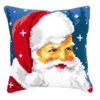 latch hook cushion yarn for cushion cover santa claus pillow case home decorative sofa cushion printed canvas pillow