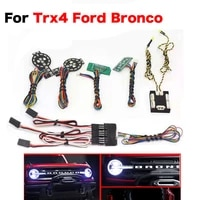 rc car front rear linkage lighting system led light group for 110 rc crawler car traxxas ford bronco trx 4 part accesories