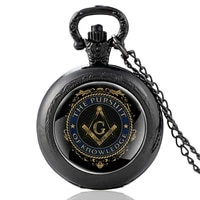 classic men women masonic quartz pocket watch the pursuit of knowledge pendant necklace watches jewelry gifts