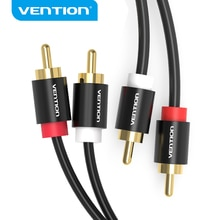 Vention 2RCA to 2 RCA Cable Male to Male Audio Cable for Home Theater DVD Amplifier TV 1m 2m 3m 5m C